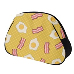 Bacon And Egg Pop Art Pattern Full Print Accessory Pouch (small)