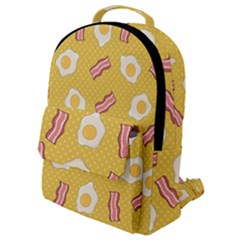 Bacon And Egg Pop Art Pattern Flap Pocket Backpack (small)