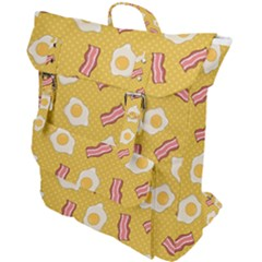 Bacon And Egg Pop Art Pattern Buckle Up Backpack