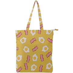 Bacon And Egg Pop Art Pattern Double Zip Up Tote Bag