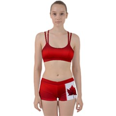 Canada Flag Gym Set Women s Tops & Shorts by CanadaSouvenirs