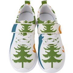 Forest Christmas Tree Spruce Men s Velcro Strap Shoes
