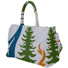 Forest Christmas Tree Spruce Duffel Travel Bag