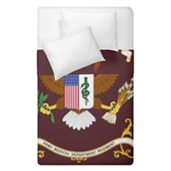 U S  Army Medical Department Regimental Flag Duvet Cover Double Side (single Size) by abbeyz71