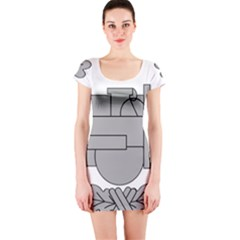 U S  Army Combat Action Badge Short Sleeve Bodycon Dress