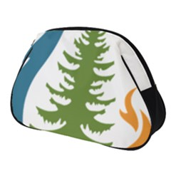 Forest Christmas Tree Spruce Full Print Accessory Pouch (small) by Desi8477