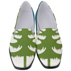 Forest Christmas Tree Spruce Women s Classic Loafer Heels