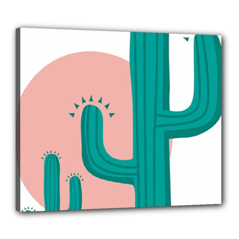Vector Cactus Canvas 24  X 20  (stretched) by Desi8477