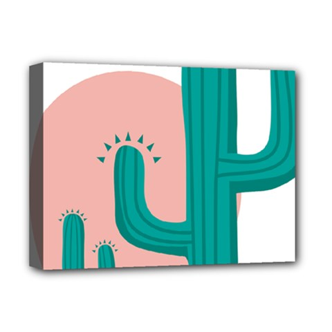 Vector Cactus Deluxe Canvas 16  X 12  (stretched)  by Desi8477