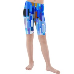 Color Colors Abstract Colorful Kids  Mid Length Swim Shorts by Pakrebo