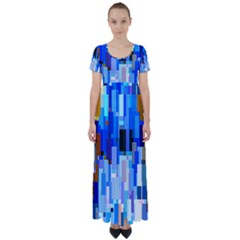 Color Colors Abstract Colorful High Waist Short Sleeve Maxi Dress by Pakrebo