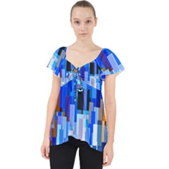 Color Colors Abstract Colorful Lace Front Dolly Top