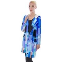Color Colors Abstract Colorful Hooded Pocket Cardigan by Pakrebo