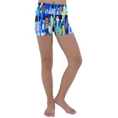 Color Colors Abstract Colorful Kids  Lightweight Velour Yoga Shorts