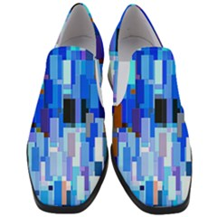 Color Colors Abstract Colorful Slip On Heel Loafers