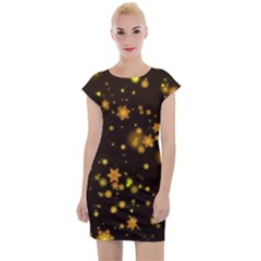 Background Black Blur Colorful Cap Sleeve Bodycon Dress by Pakrebo