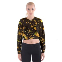 Background Black Blur Colorful Cropped Sweatshirt