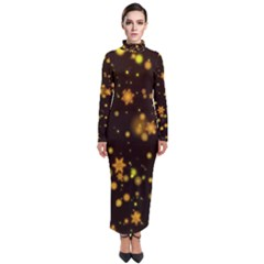 Background Black Blur Colorful Turtleneck Maxi Dress by Pakrebo