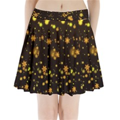 Background Black Blur Colorful Pleated Mini Skirt by Pakrebo