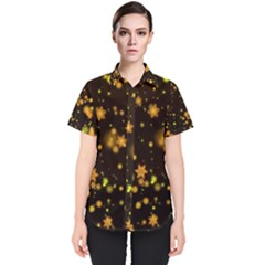 Background Black Blur Colorful Women s Short Sleeve Shirt