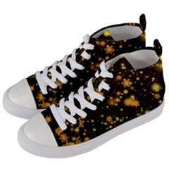 Background Black Blur Colorful Women s Mid-top Canvas Sneakers by Pakrebo