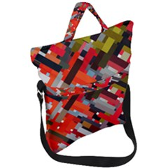 Maze Mazes Fabric Fabrics Color Fold Over Handle Tote Bag by Pakrebo