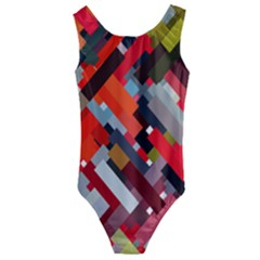 Maze Mazes Fabric Fabrics Color Kids  Cut-out Back One Piece Swimsuit