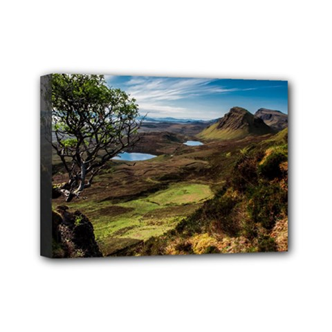 Landscape Quairaing Scotland Mini Canvas 7  X 5  (stretched) by Pakrebo
