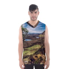 Landscape Quairaing Scotland Men s Basketball Tank Top by Pakrebo