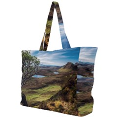 Landscape Quairaing Scotland Simple Shoulder Bag by Pakrebo