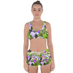 Art Flower Flowers Fabric Fabrics Racerback Boyleg Bikini Set by Pakrebo