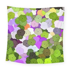 Art Flower Flowers Fabric Fabrics Square Tapestry (large)