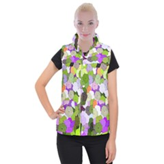 Art Flower Flowers Fabric Fabrics Women s Button Up Vest by Pakrebo