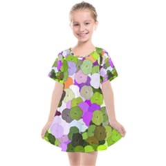 Art Flower Flowers Fabric Fabrics Kids  Smock Dress by Pakrebo