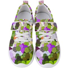 Art Flower Flowers Fabric Fabrics Men s Velcro Strap Shoes