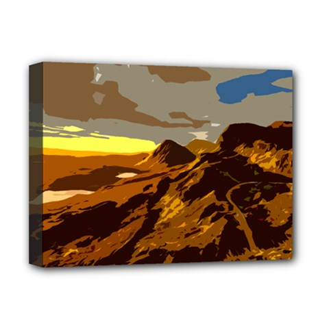 Scotland Monti Mountains Mountain Deluxe Canvas 16  X 12  (stretched)