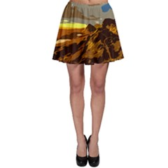 Scotland Monti Mountains Mountain Skater Skirt by Pakrebo