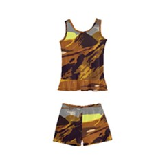 Scotland Monti Mountains Mountain Kids  Boyleg Swimsuit by Pakrebo