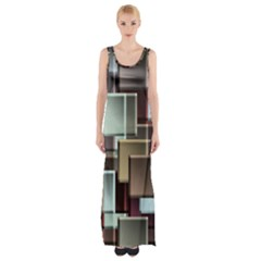 Texture Artwork Mural Murals Art Maxi Thigh Split Dress by Pakrebo