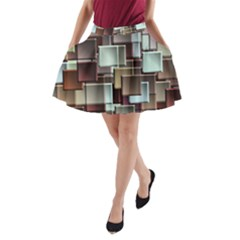 Texture Artwork Mural Murals Art A-line Pocket Skirt by Pakrebo