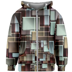 Texture Artwork Mural Murals Art Kids  Zipper Hoodie Without Drawstring by Pakrebo