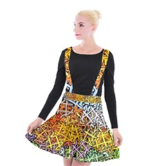 Color Colors Network Networks Suspender Skater Skirt