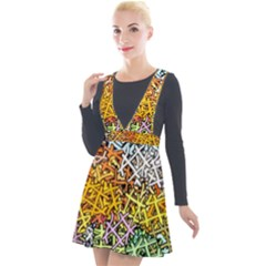 Color Colors Network Networks Plunge Pinafore Velour Dress