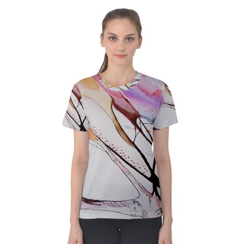 Art Painting Abstract Canvas Women s Cotton Tee by Pakrebo