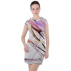 Art Painting Abstract Canvas Drawstring Hooded Dress by Pakrebo
