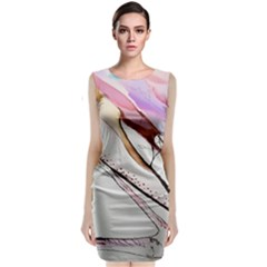 Art Painting Abstract Canvas Classic Sleeveless Midi Dress by Pakrebo