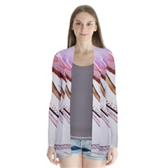 Art Painting Abstract Canvas Drape Collar Cardigan by Pakrebo