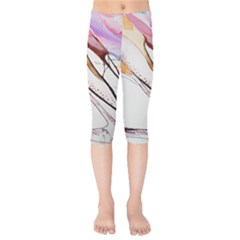 Art Painting Abstract Canvas Kids  Capri Leggings  by Pakrebo
