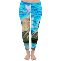 Painting Paintings Mountain Classic Winter Leggings by Pakrebo