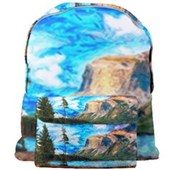 Painting Paintings Mountain Giant Full Print Backpack by Pakrebo